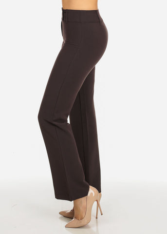 Image of Evening Wear Brown High Waisted Pants