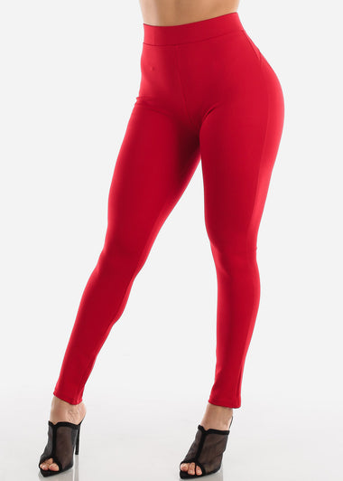 Butt Lifting Red Skinny Pants