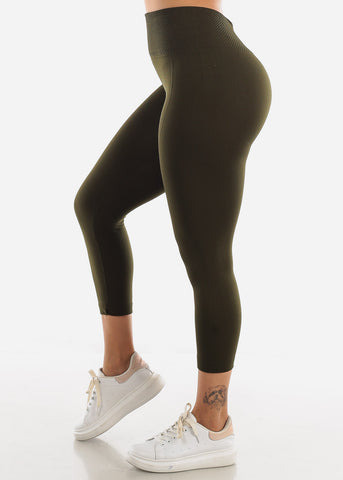 Olive High Waist Leggings