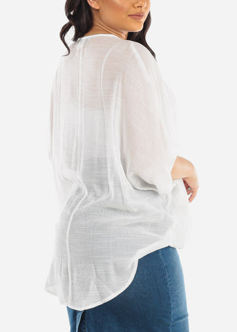 Casual Lightweight White Top