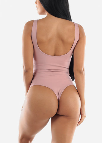 Pink Zip Up Bodysuit