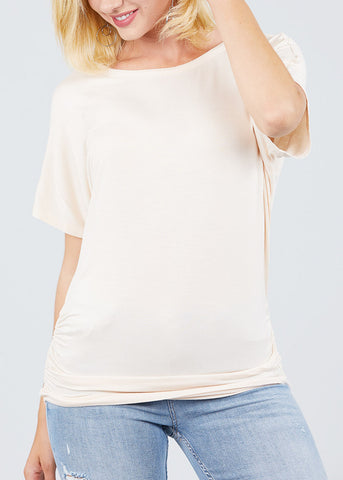 Image of Dolman Sleeve Ivory Top