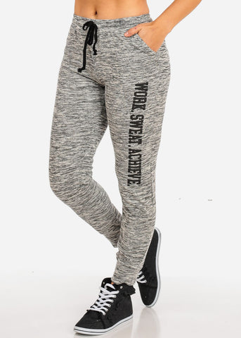 Image of Work Sweat Graphic Grey Jogger Pants