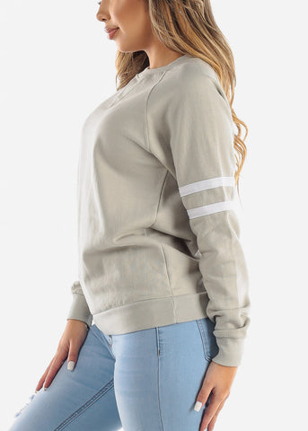 Long Sleeve Fleece Ash Pullover