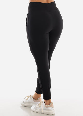 Black High Waist Sweatpants