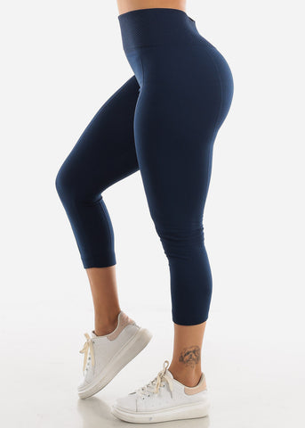 Navy High Waist Leggings
