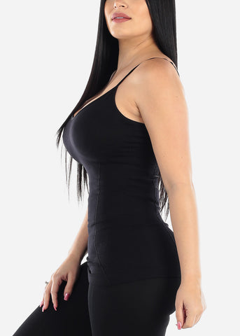 Image of Seamless Spaghetti Top (Black)