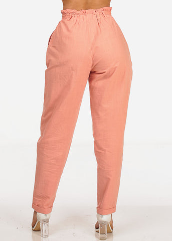 Stylish Rose Ankle Pants