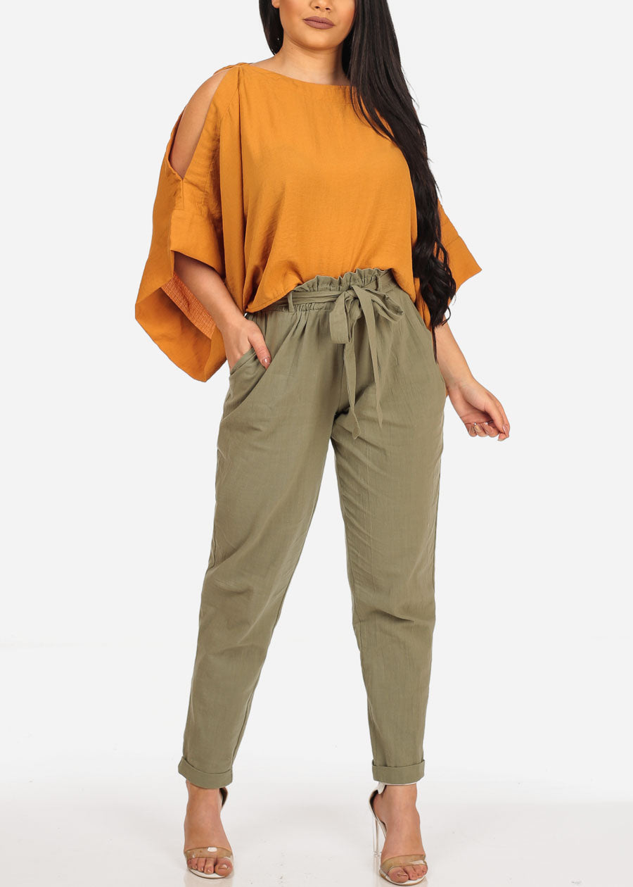 Stylish Olive Ankle Pants