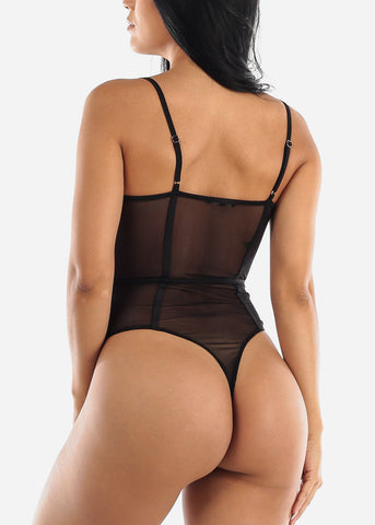 Image of Sexy Black Lace Bodysuit