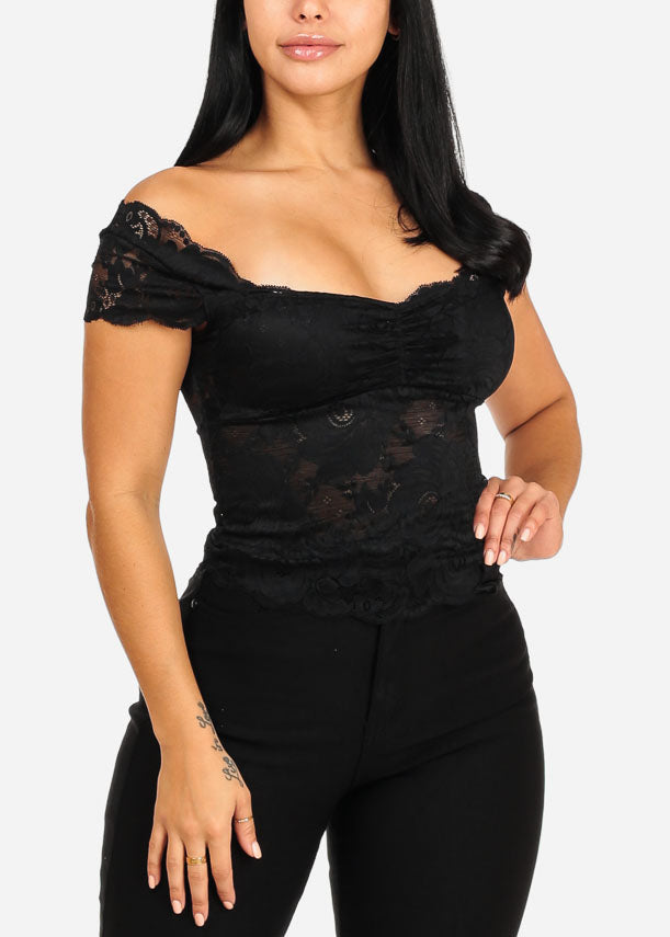Sexy Sweetheart Lace Crop Top