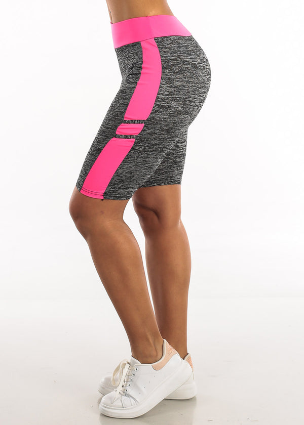 Activewear Heather Pink Bermuda Shorts