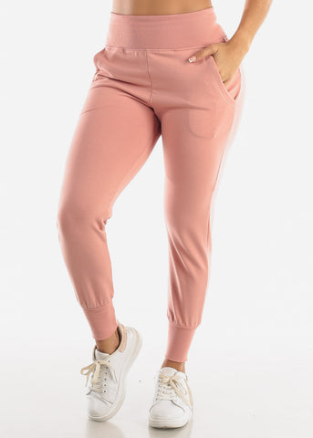 Mauve High Waist Sweatpants
