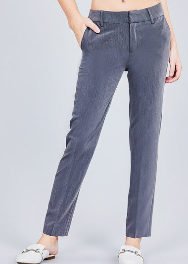 Dark Grey Straight Leg Dress Pants