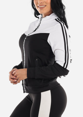 Image of Activewear Colorblock White Jacket