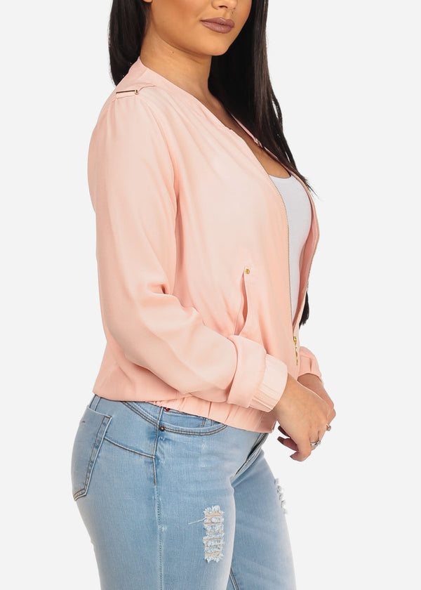 Blush Zip Up Jacket