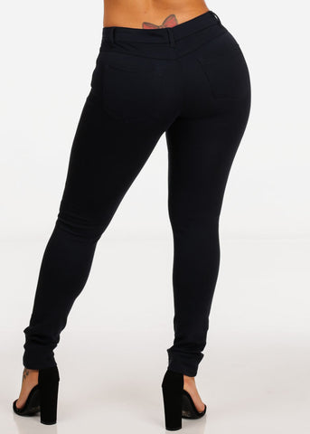 Navy High Rise Skinny Jeggings Pants