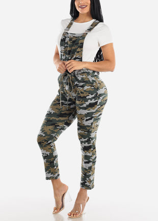 Casual Sleeveless Camouflage Overall