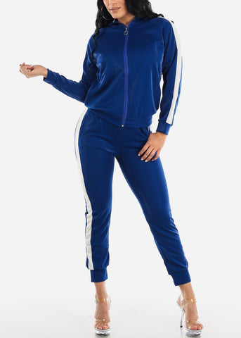 Image of Activewear Blue Jacket & Pants (2 PCE SET)