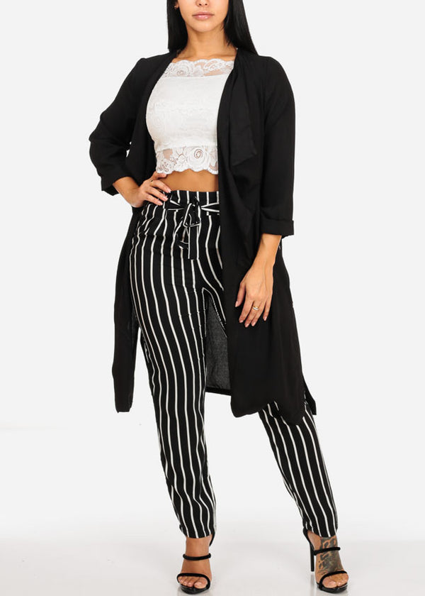 Black Stripe Ultra High Waisted Skinny Pants