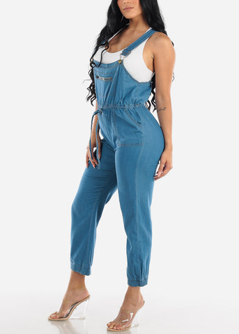Image of Light Wash Denim Overall