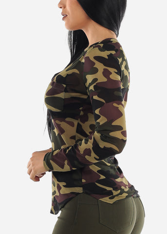 Image of Mesh Army Top