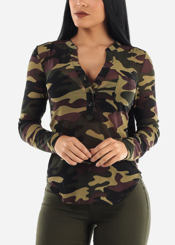 Mesh Army Top