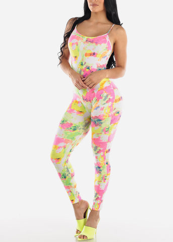 Image of Multi Tie Dye Jumpsuit