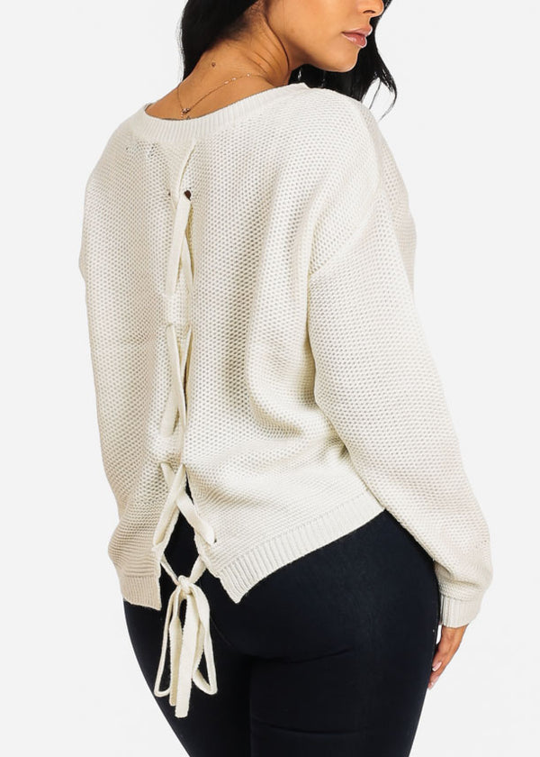 Basic Ivory Knitted Sweater
