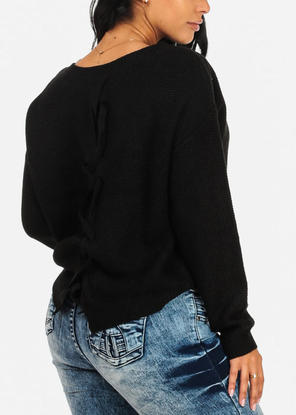 Basic Black Knitted  Sweater