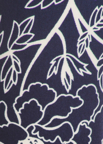 Image of Activewear Navy & White Floral Leggings