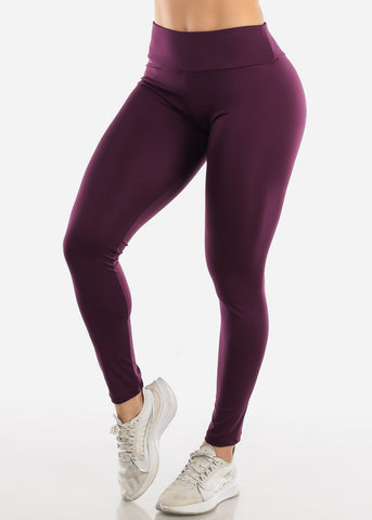 Image of Activewear Push Up Purple Leggings