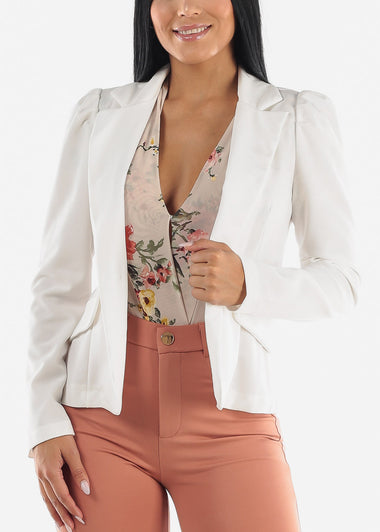 White Button Blazer