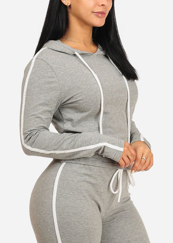 Image of Grey SweatShirt W Hood