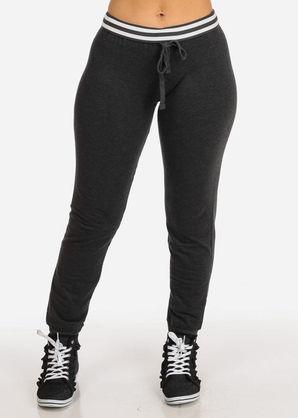 Low Rise Charcoal Jogger Pants