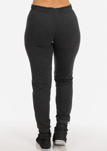 Image of Low Rise Charcoal Jogger Pants