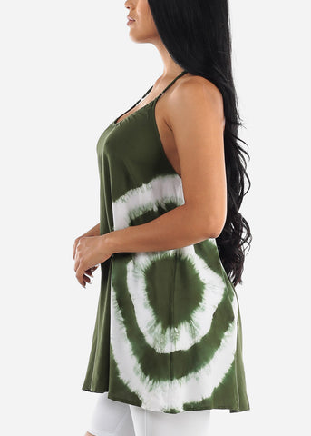 Image of Tie Dye Olive Tunic Top