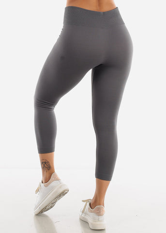 Grey High Waist Leggings