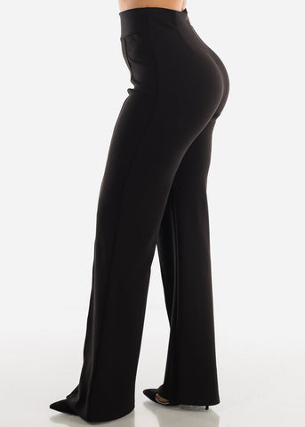 Wide Leg Black Dress Pants