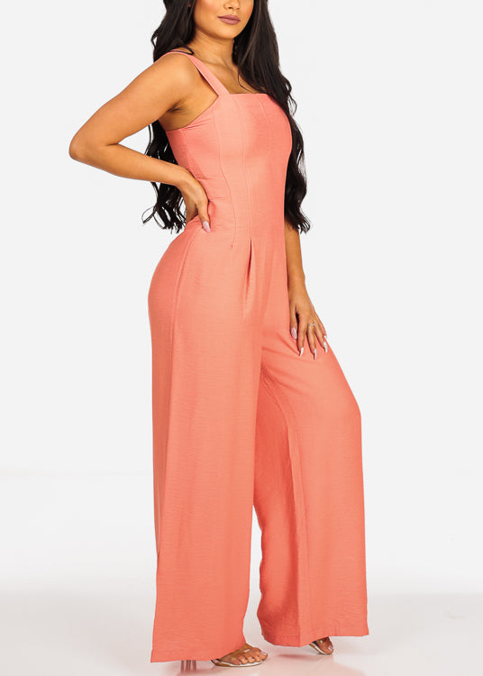 Summer Coral Jumpsuit