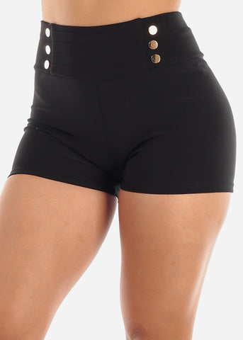 Image of Black High Rise Shorts