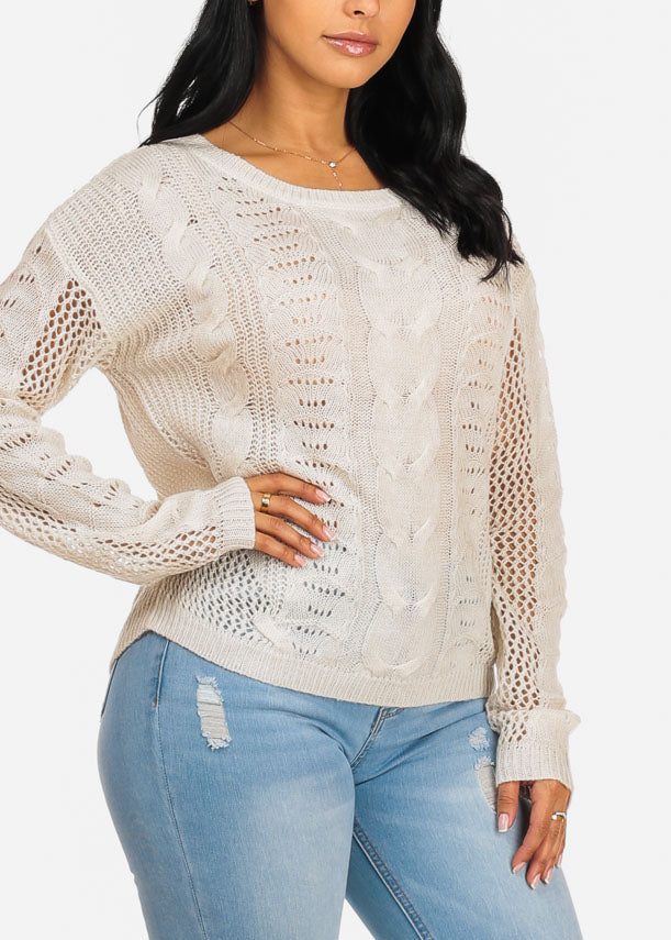 Cozy Knitted White Sweater