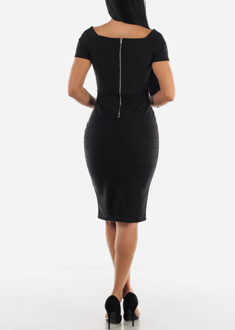 Image of Black Off Shoulder Dress