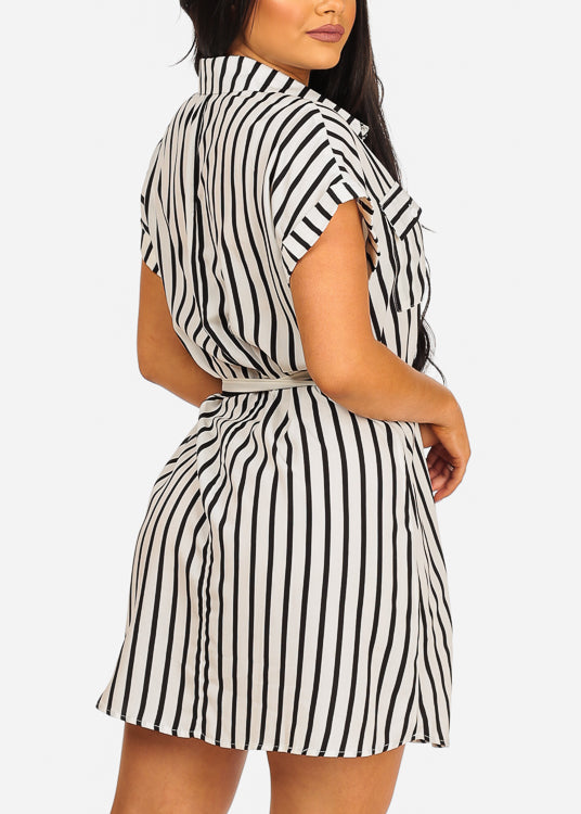 Essential White Stripe Dress