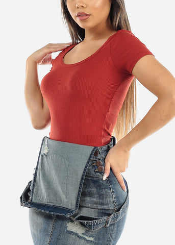 Brick Ribbed Crop Top