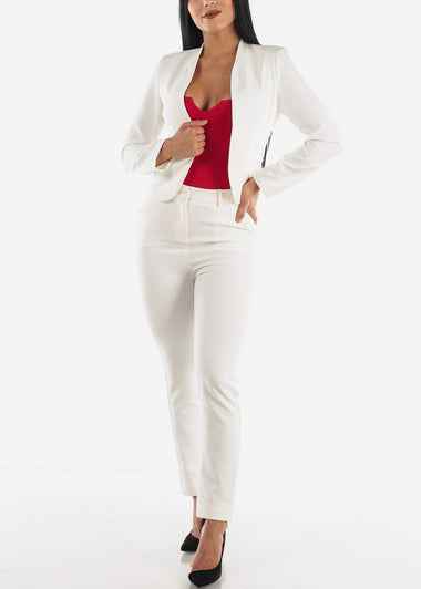 Career Wear White Blazer