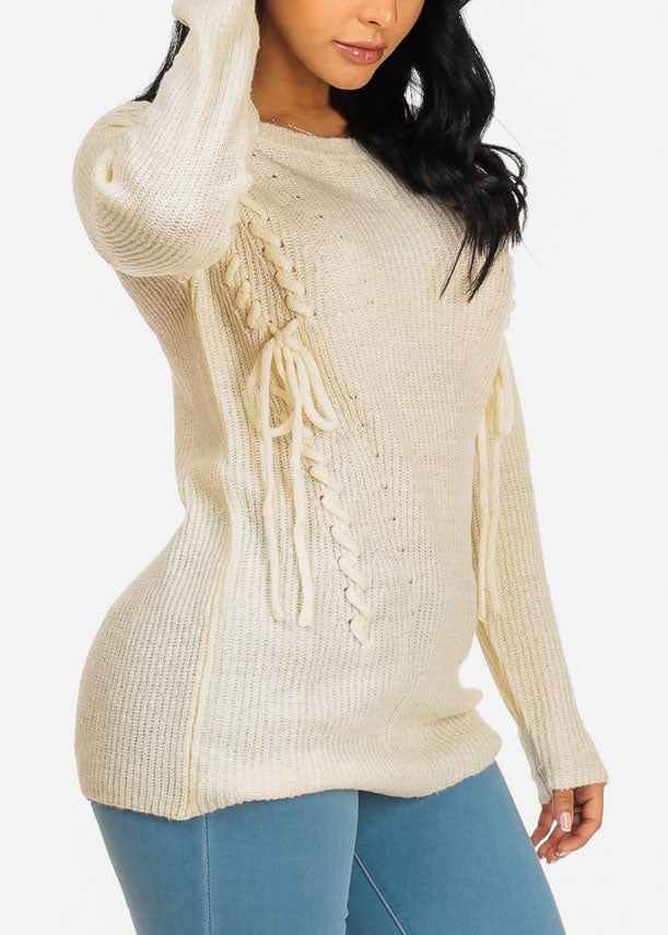 Cozy Ivory Knitted Tunic