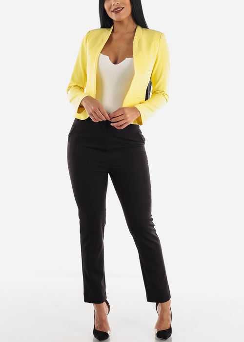 Career Wear Yellow Blazer