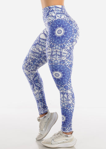 Image of Activewear Purple Printed Leggings
