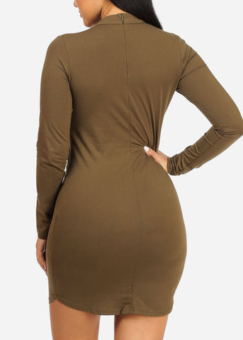 Olive Bossy Bodycon Dress